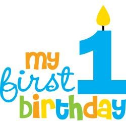Happy 1st birthday clipart 5 » Clipart Station.