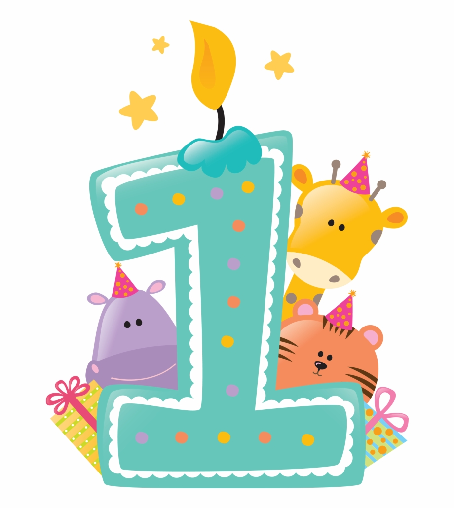 Happy First Birthday Png Svg Free Stock.