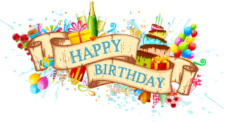 Happy Birthday PNG DESIGN ELEMENTS free.