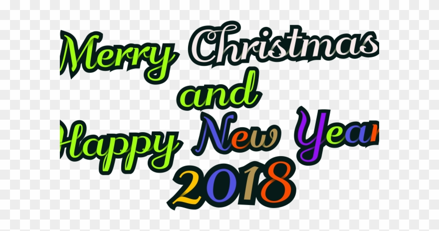 Christmas And Happy New Year Images 2018 With Clipart.