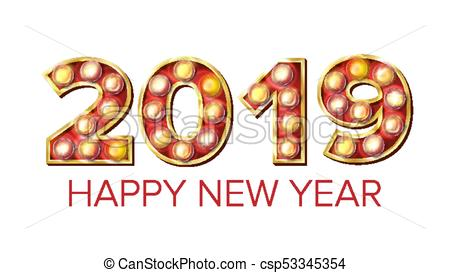 2019 happy new year vector. background decoration. greeting.