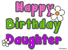 Birthday Cards for daughters Facebook Wall.