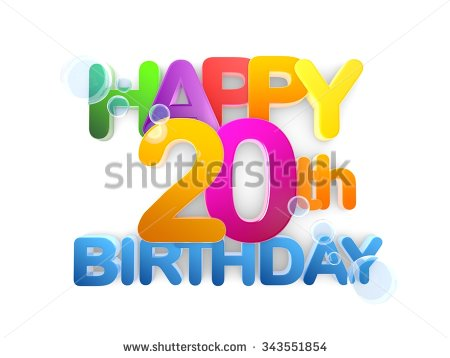 20th Birthday Stock Images, Royalty.