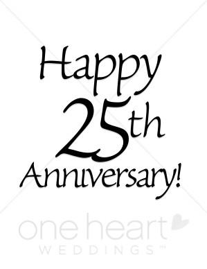 Happy 25th Anniversary Clipart.
