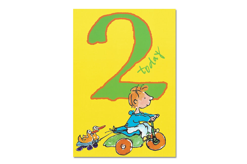 Happy 2nd Birthday Bicycle Greeting Card.