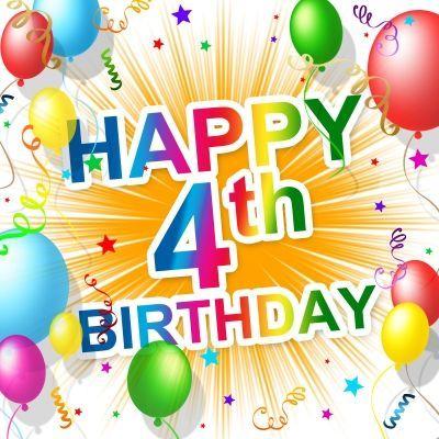 Happy 4th birthday, 4th birthday wishes, four year old, 4.