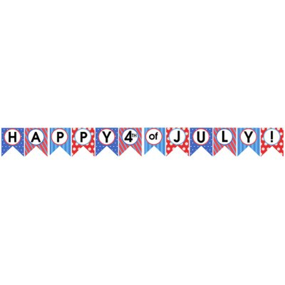 Happy 4th of July Banner.