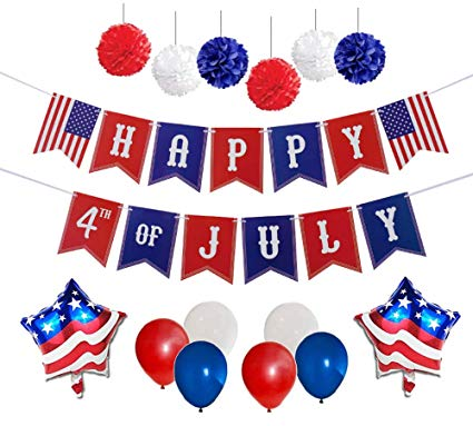 4th of July Party Decorations Set.