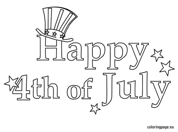 Free Happy 4th Of July Coloring Pages.