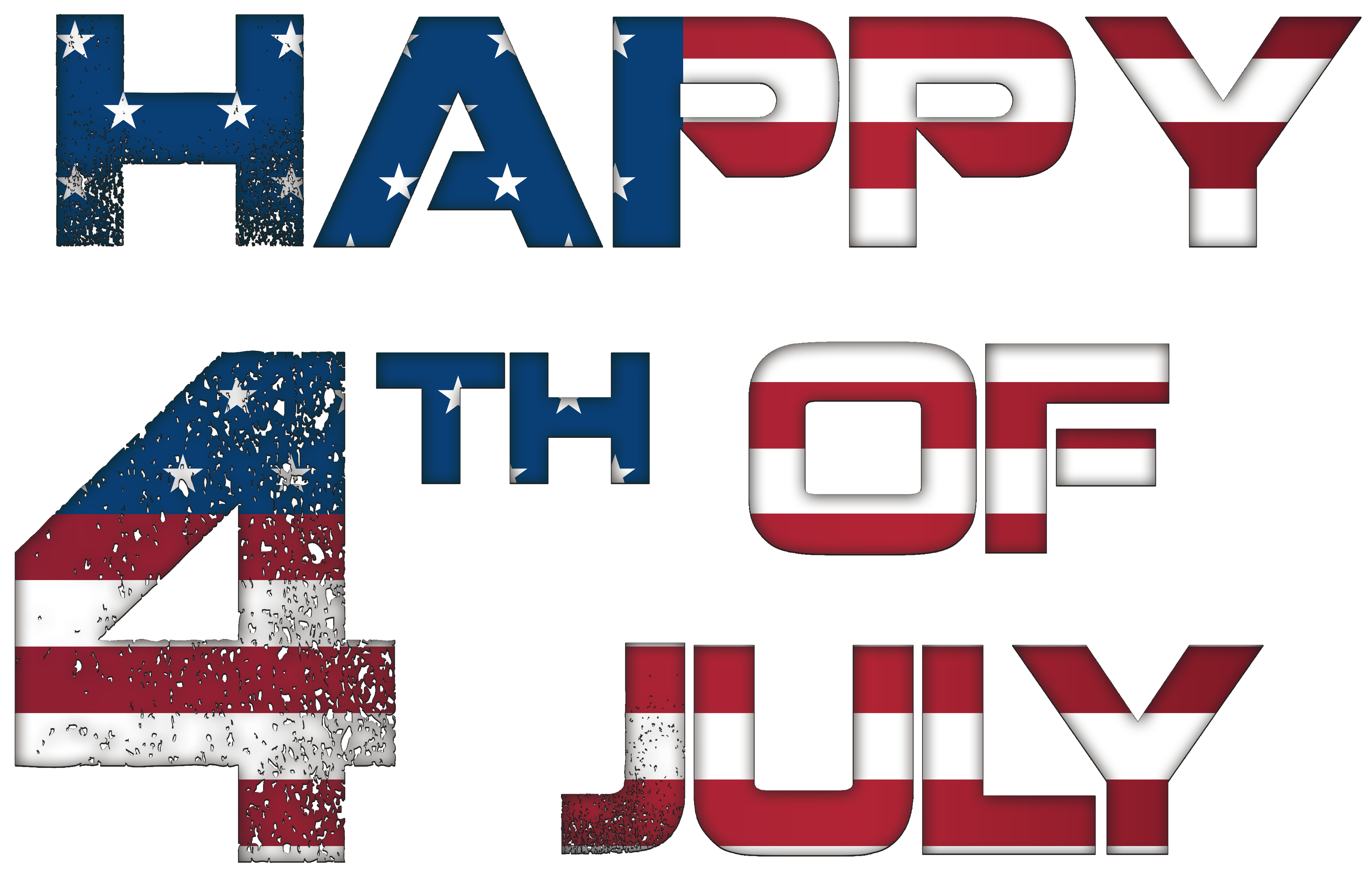 Happy 4th July USA PNG Clip Art Image.