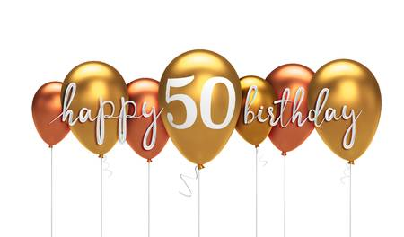 Happy 50th Birthday Stock Illustrations, Cliparts And Royalty Free.