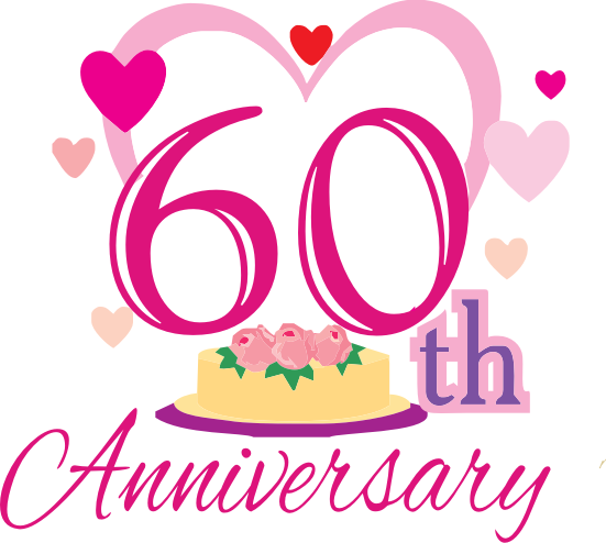 60th Wedding Anniversary Clipart.