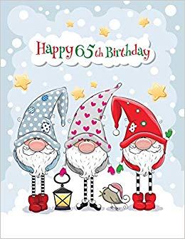 Happy 65th Birthday: BIG Cute Winter Themed Notebook, Personal.