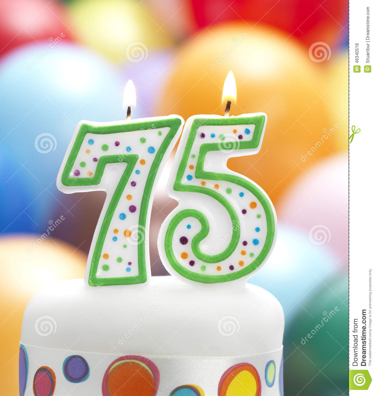 happy 75th birthday clipart s my th birthday candle balloon.