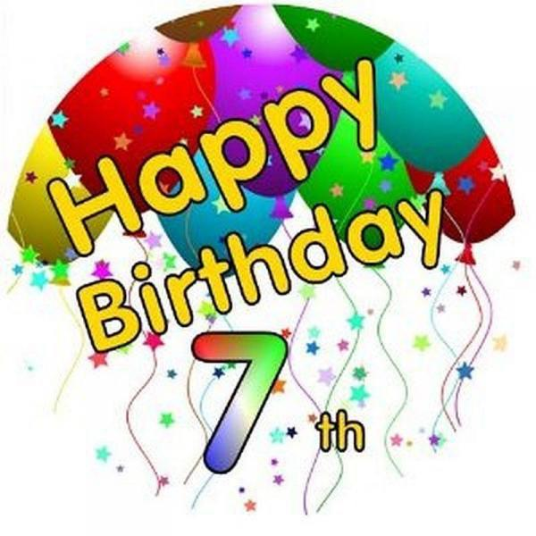 7th birthday clipart 6 » Clipart Station.