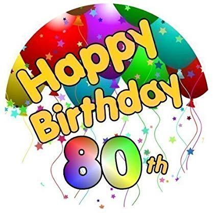Amazon.com: Happy 80th Birthday Cake Topper Made With Sugar.
