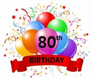 Free 80th Birthday Clipart.