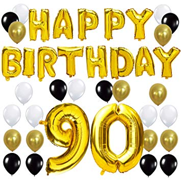 KUNGYO 90TH Birthday Party Decorations Kit.