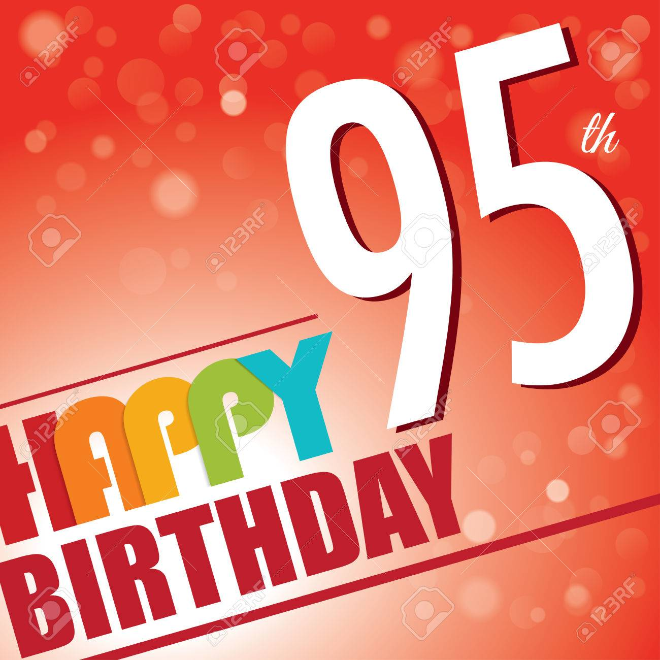 The Incredible free clipart happy 95th birthday for your reference.