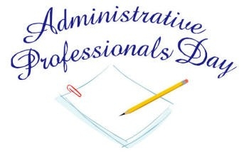 Administrative Assistant Day Clipart.