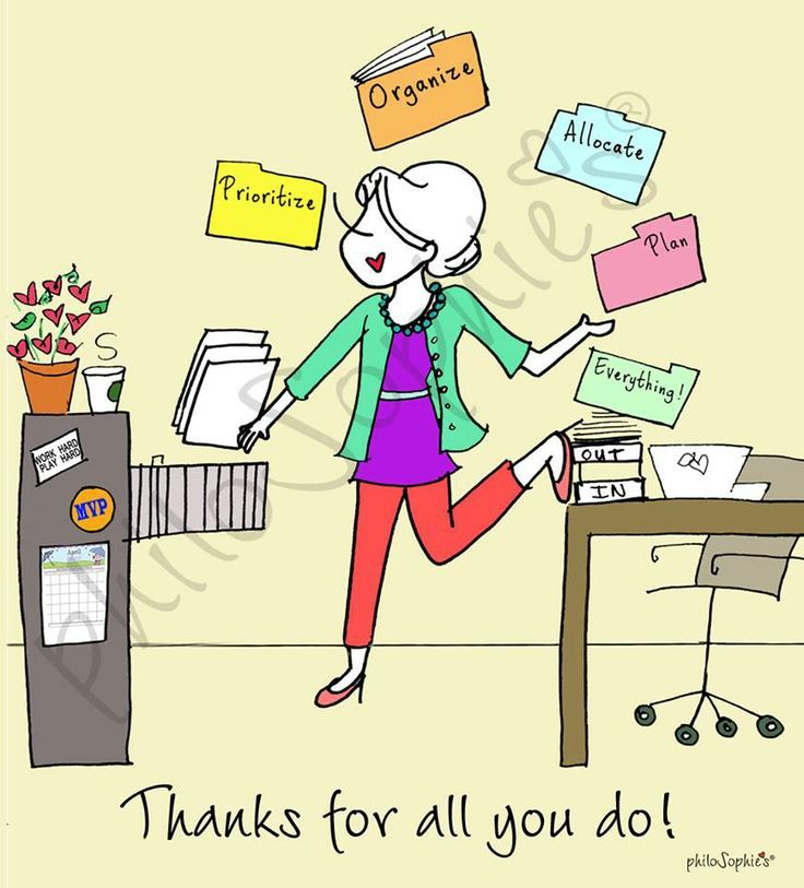 Image result for admin professional day cartoon.