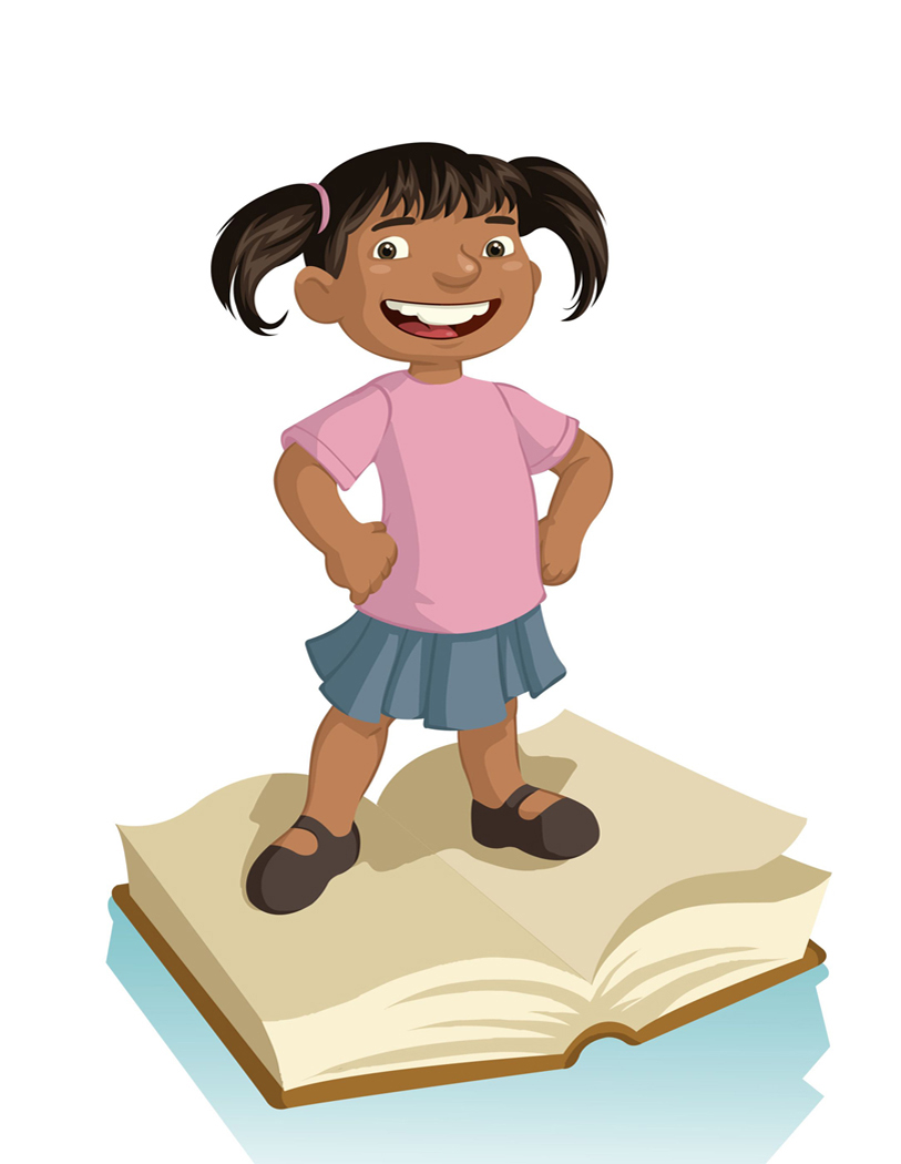 Happy African American Student Clipart.