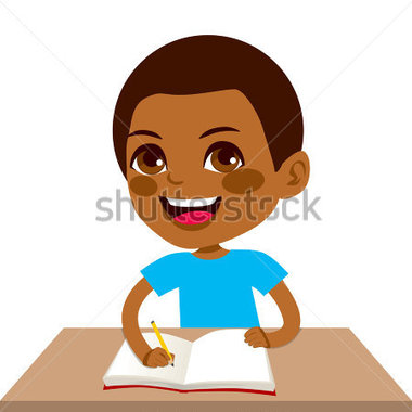 African American Student Clipart.