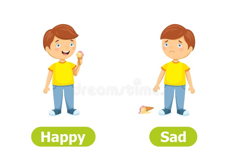Happy Sad Stock Illustrations.