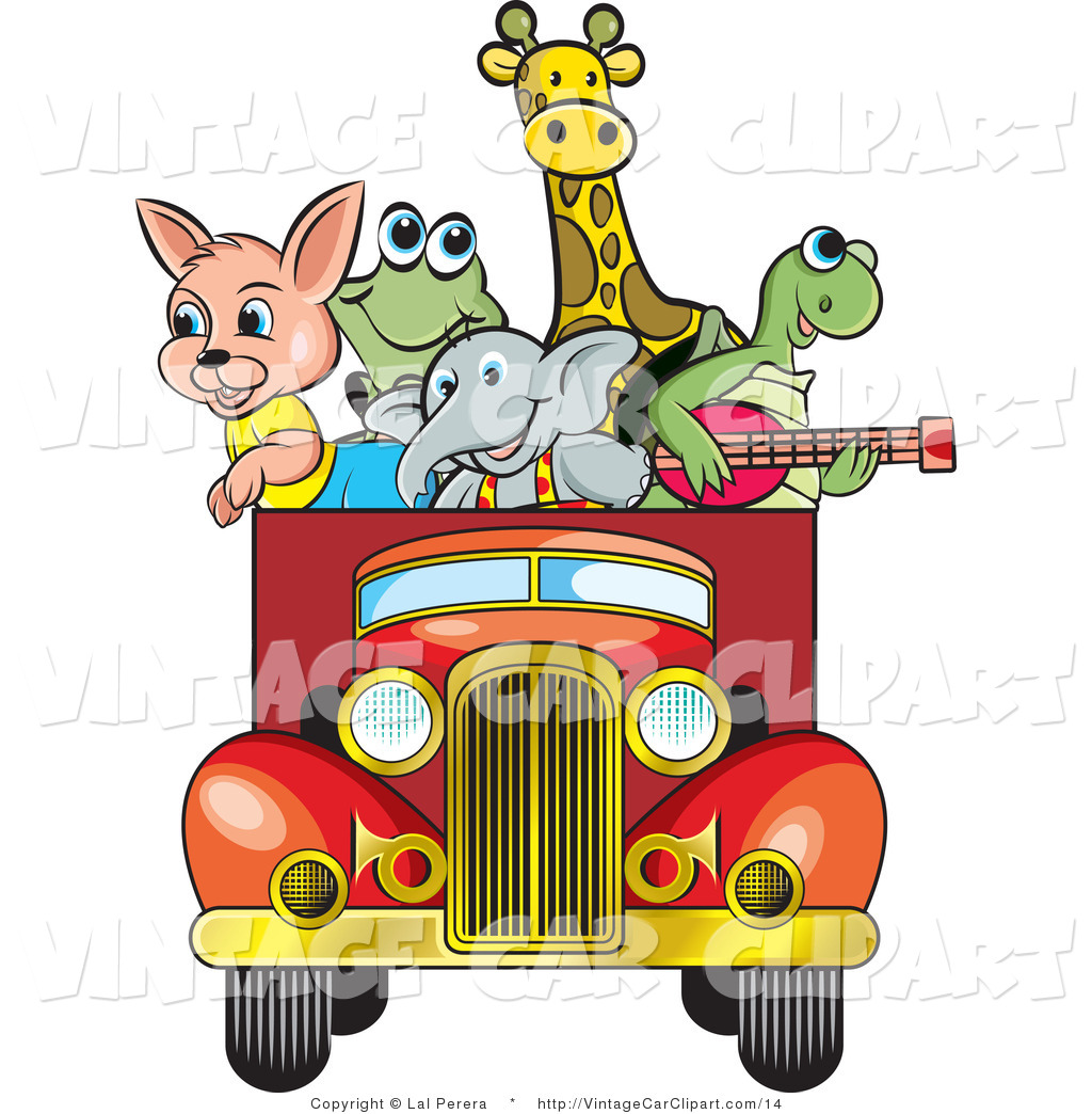 Happy Animals Clipart.