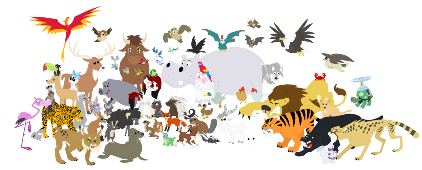 happy world animal day animals clipart.
