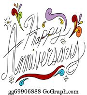 Happy Anniversary Clip Art.