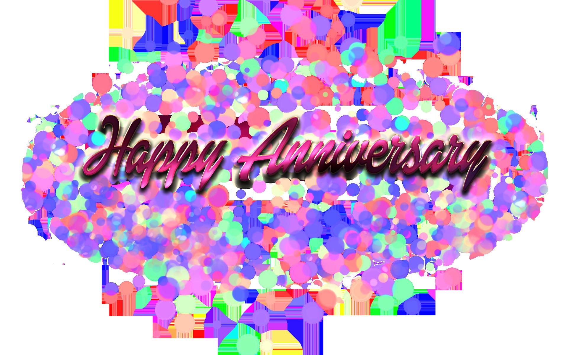 Happy Anniversary Name Bokeh PNG.