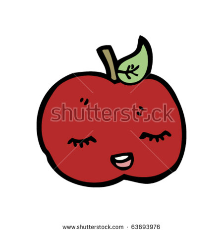 Happy Apple Stock Images, Royalty.