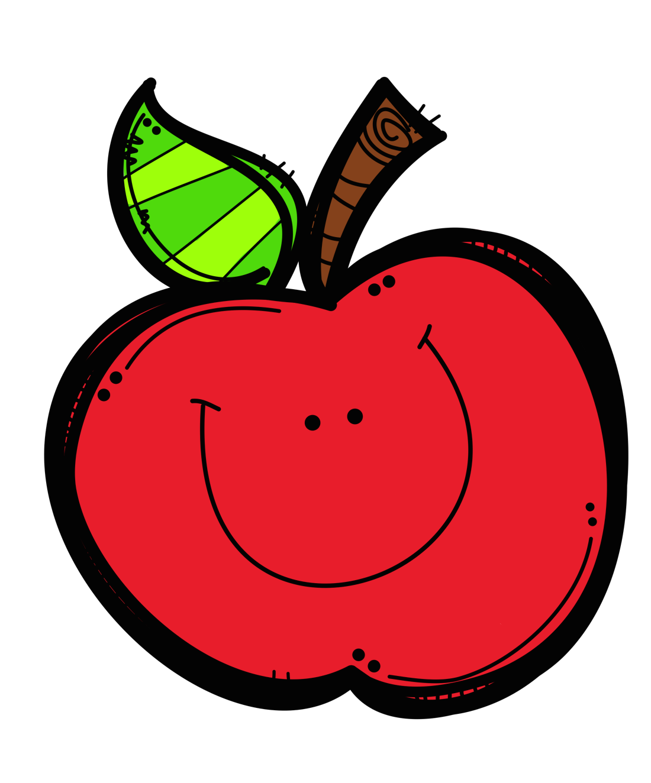 Happy Apple Clipart.