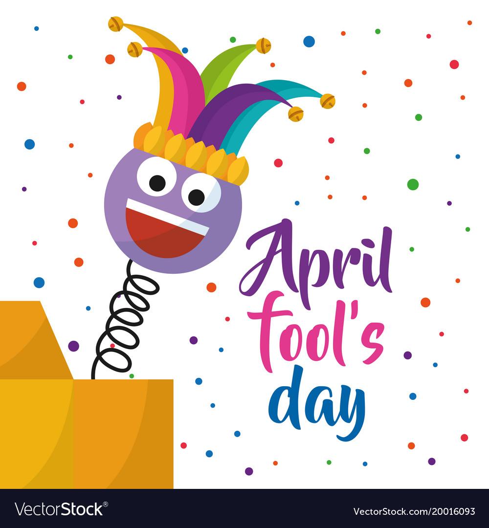 April fools day greeting card emoji smiling with.