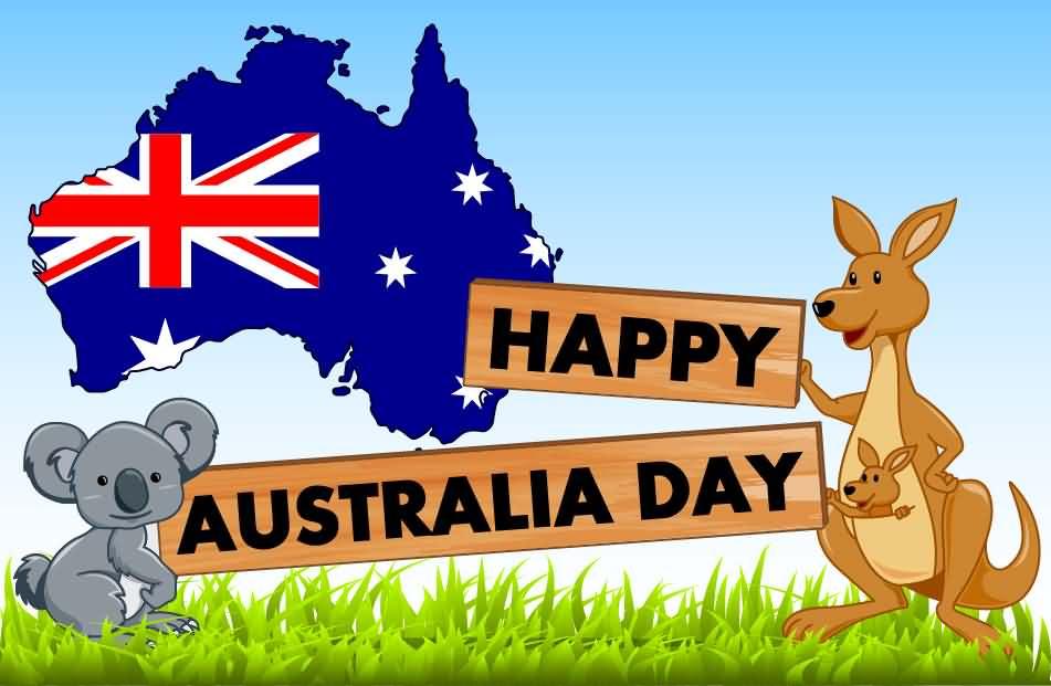 Happy Australia Day Clipart.