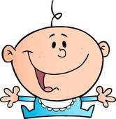 Happy Baby Boy Clipart.