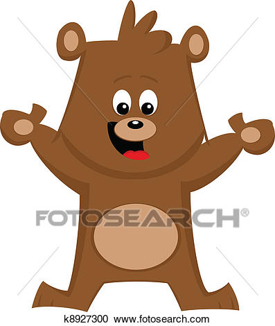Happy Bear Cartoon Clipart.