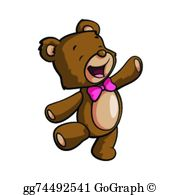 Happy Bear Clip Art.