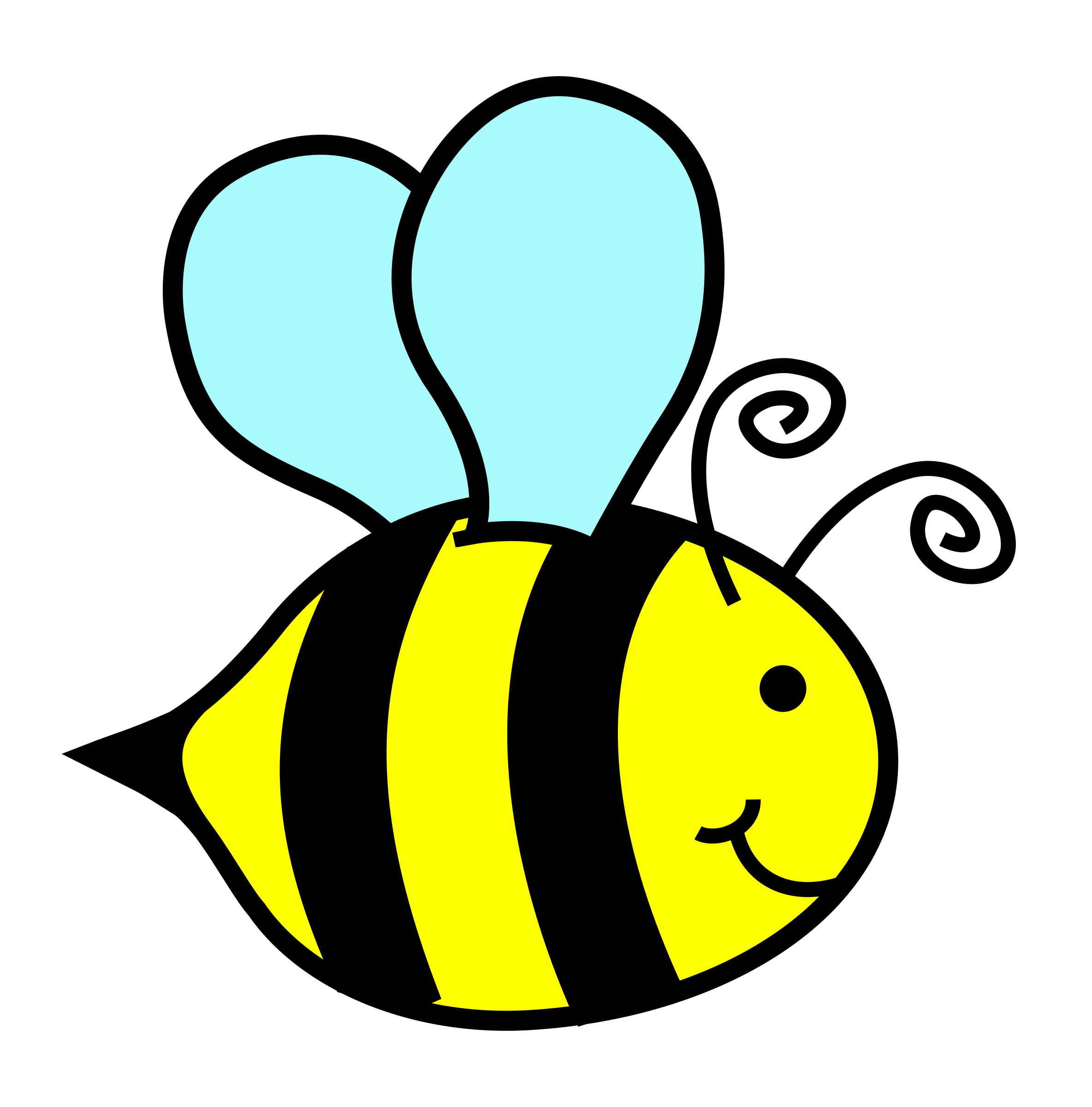 Clipart happy bee, Clipart happy bee Transparent FREE for.