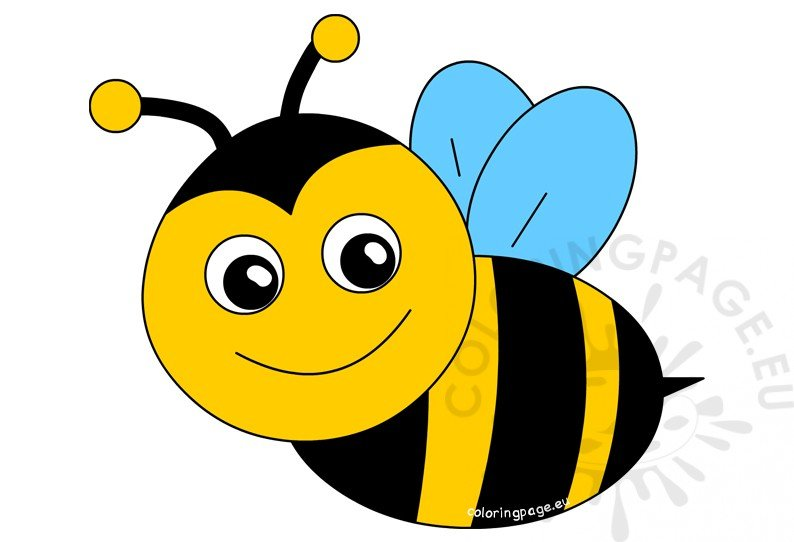 Happy Bee Cartoon ClipArt.