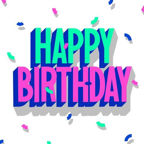 Happy Birthday Typography 3d Effect..