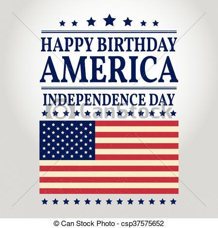 Happy Birthday America. Vector illustration..