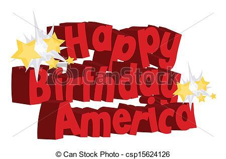 Happy Birthday America Greeting.