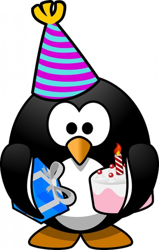 Funny happy birthday clipart image.