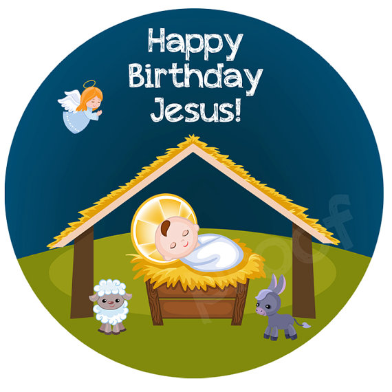 Happy Birthday Christmas sticker.