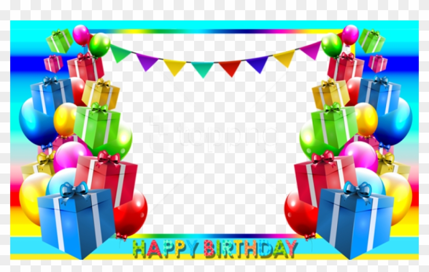 Free Png Happy Birthday Png Blue Photo Frame Background.