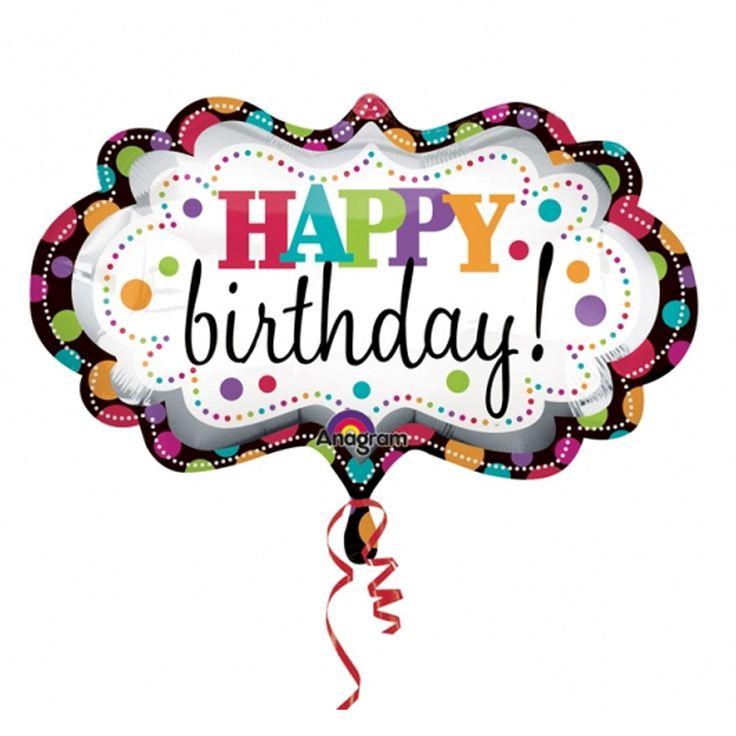 Free Happy Birthday Balloon Clipart.