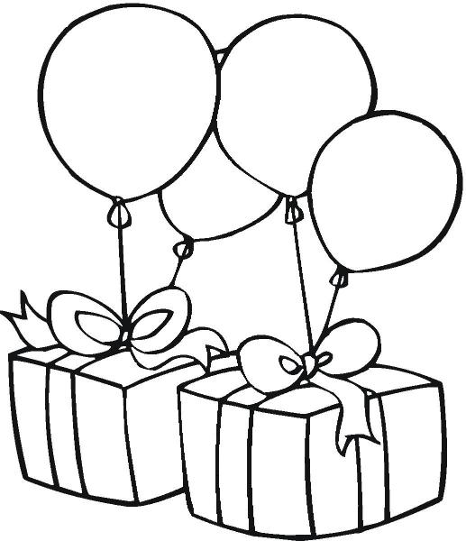 Birthday Balloons Clip Art Black And White