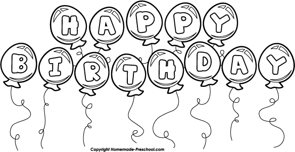 Black And White Party Balloons Clipart#2081789.